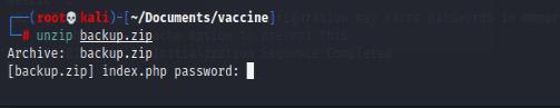 hack the box vaccine 靶场练习