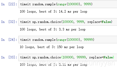 random sample python with replacement