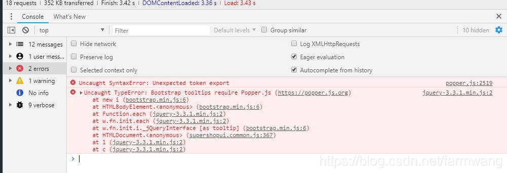 Uncaught SyntaxError: Unexpected token export popper js