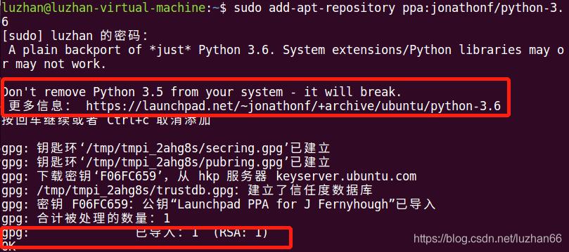 ubuntu python 3 6