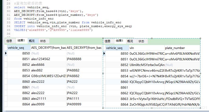 mysql 触发器之把字段加密(对称aes_encrypt)后保存- 飞奔的小