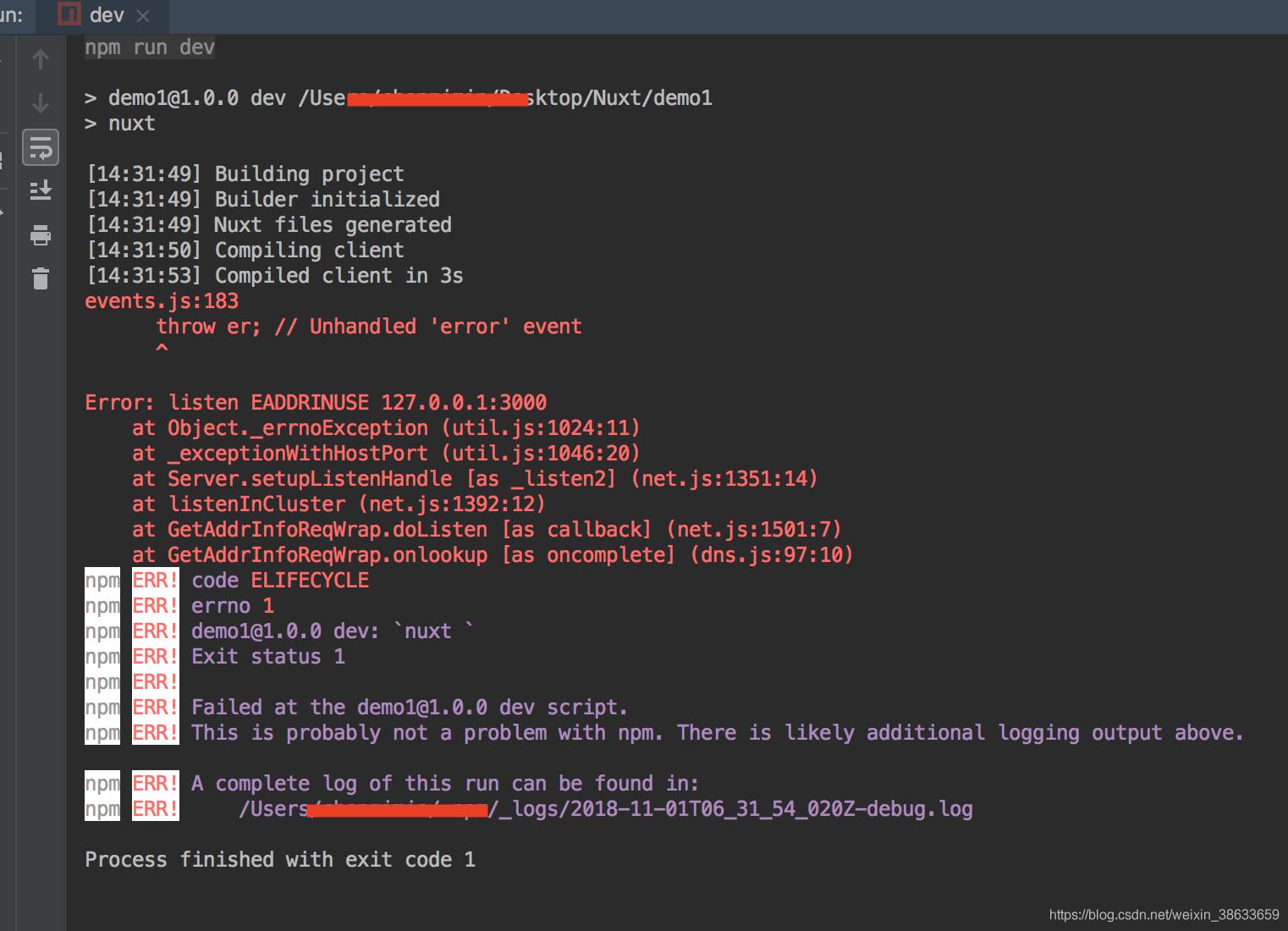 nuxt安装与IP端口配置- chenzimin_blog - CSDN博客