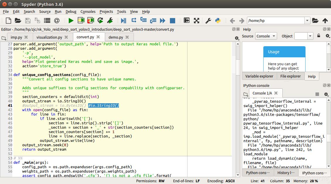 代码运行方法deep sort yolov3: real-time Multi-person