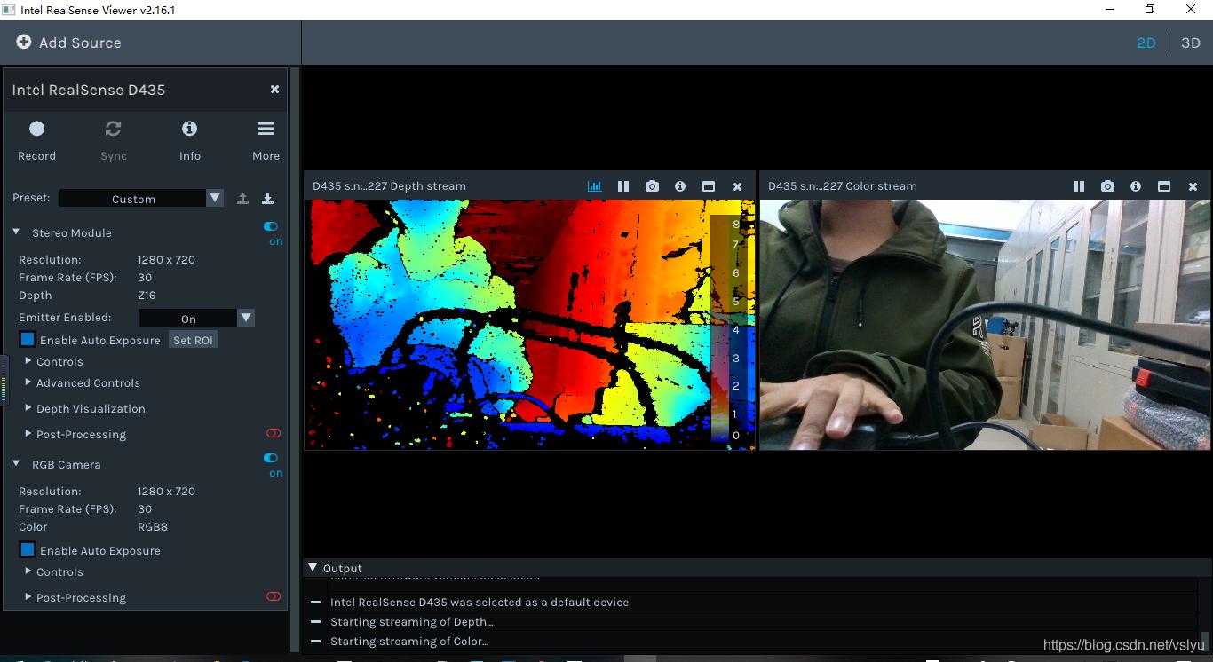 SLAM之camera(Intel RealSense D435)调试第一弹:Win10平台下getting