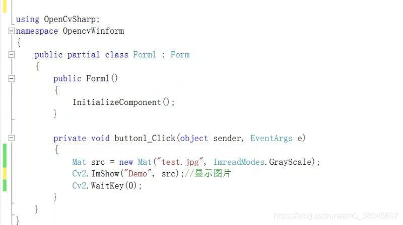 Winform中使用Opencv-OpenCVSharp - m0_38046697的博客- CSDN博客