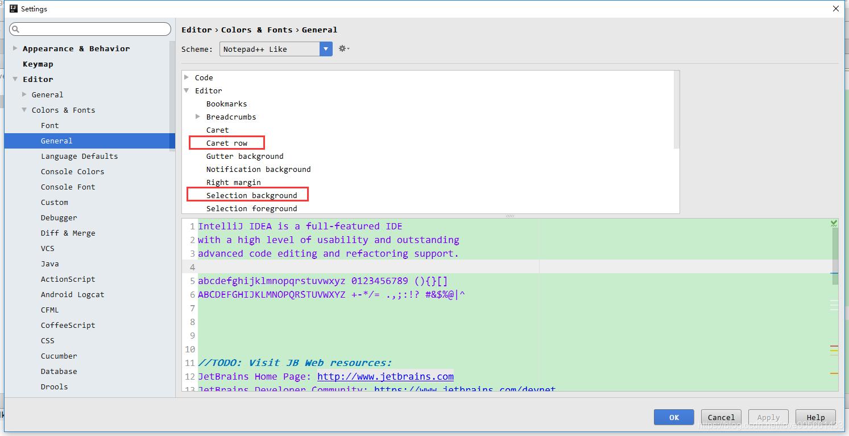IntelliJ IDEA行設定選中行,選中程式碼塊顏色- IT閱讀