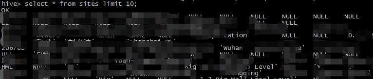 Hive读取HDFS上面的数据和使用Squirrel客户端连接Hive
