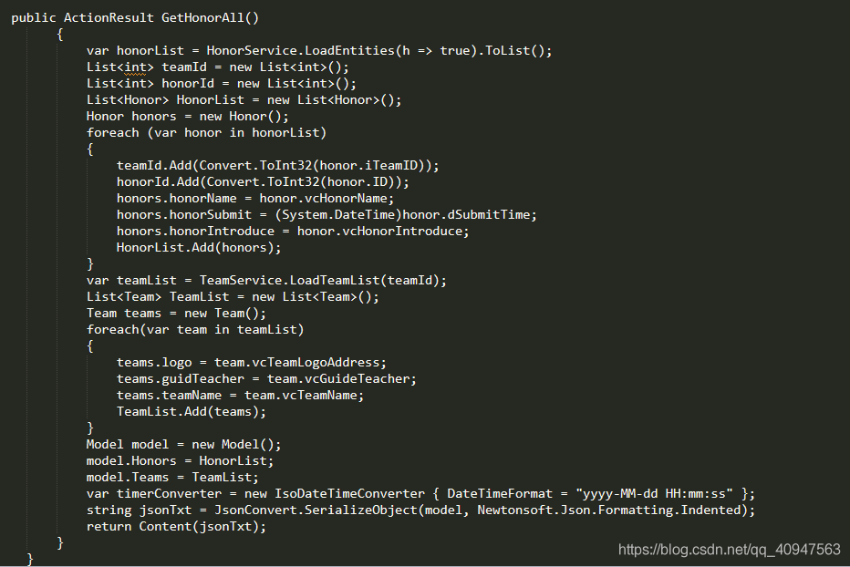 EF+MVC从后台拿到多张表的数据拼装成Json格式给前台