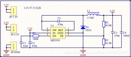 MP2359开关电源原理图
