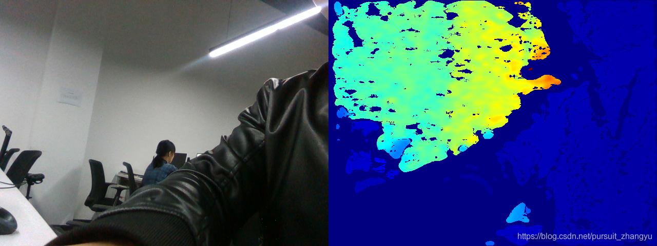 intelRealsense D435 python读取并显示彩图和深度图