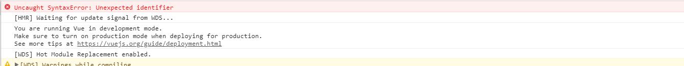 js中import报错Uncaught SyntaxError: Unexpected identifier
