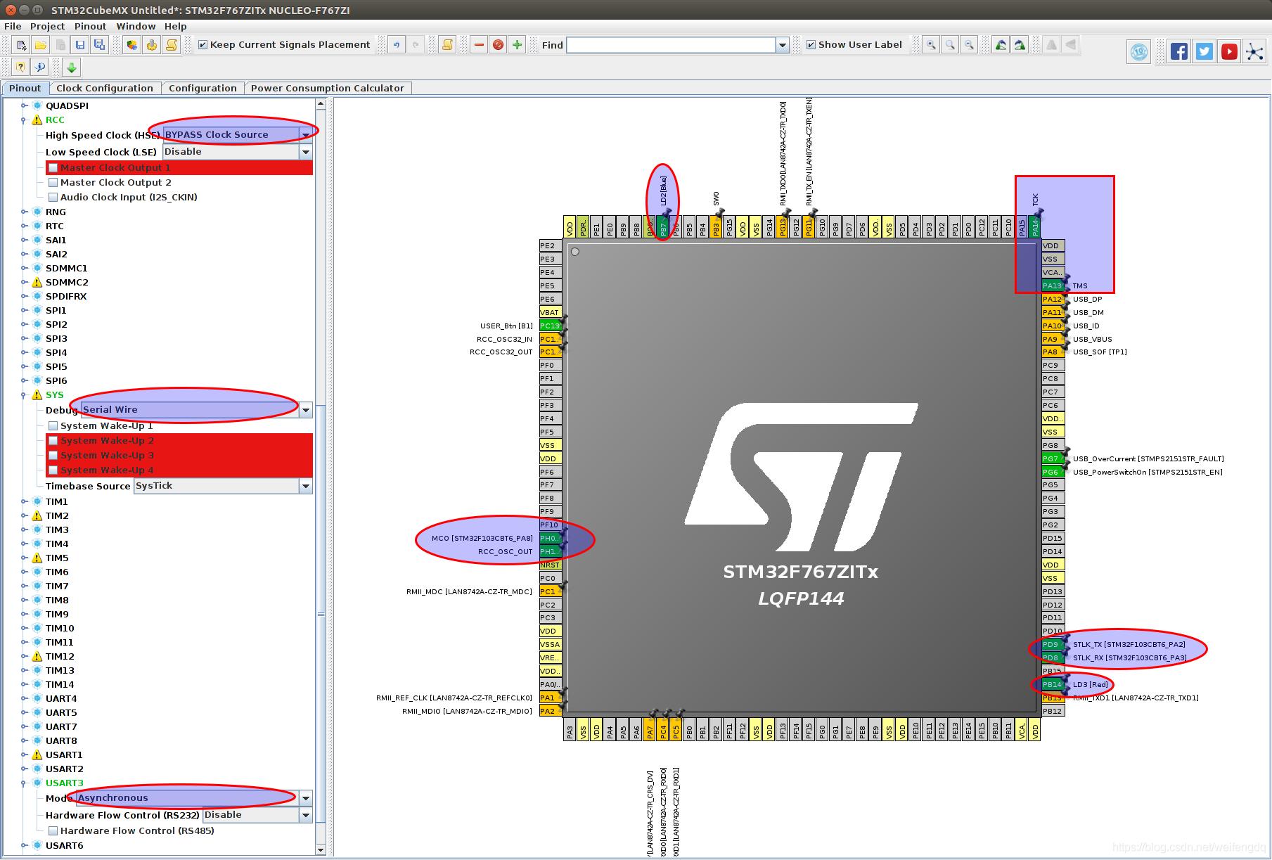 Ubuntu16 the STM32 development - lighting and serial