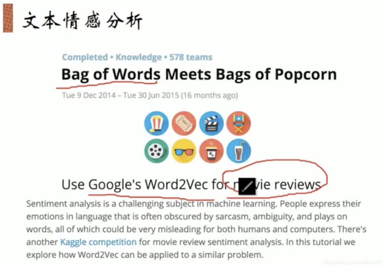 NLP到word2vec实战班视频截图3---Word2vec实战和kaggle案例分析