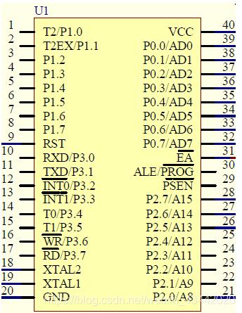图1-2-1 AT89C51单片机