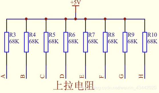 图1-2-5 数码管显示电路