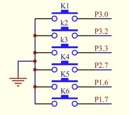 图1-2-7 按键电路