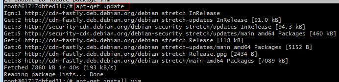 解决:bash: vim: command not found、docker 容器不识别vi