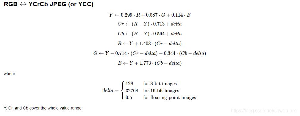 超分辨率】python中的图像空间的转换RGB--YCBCR - Shwan_ma的