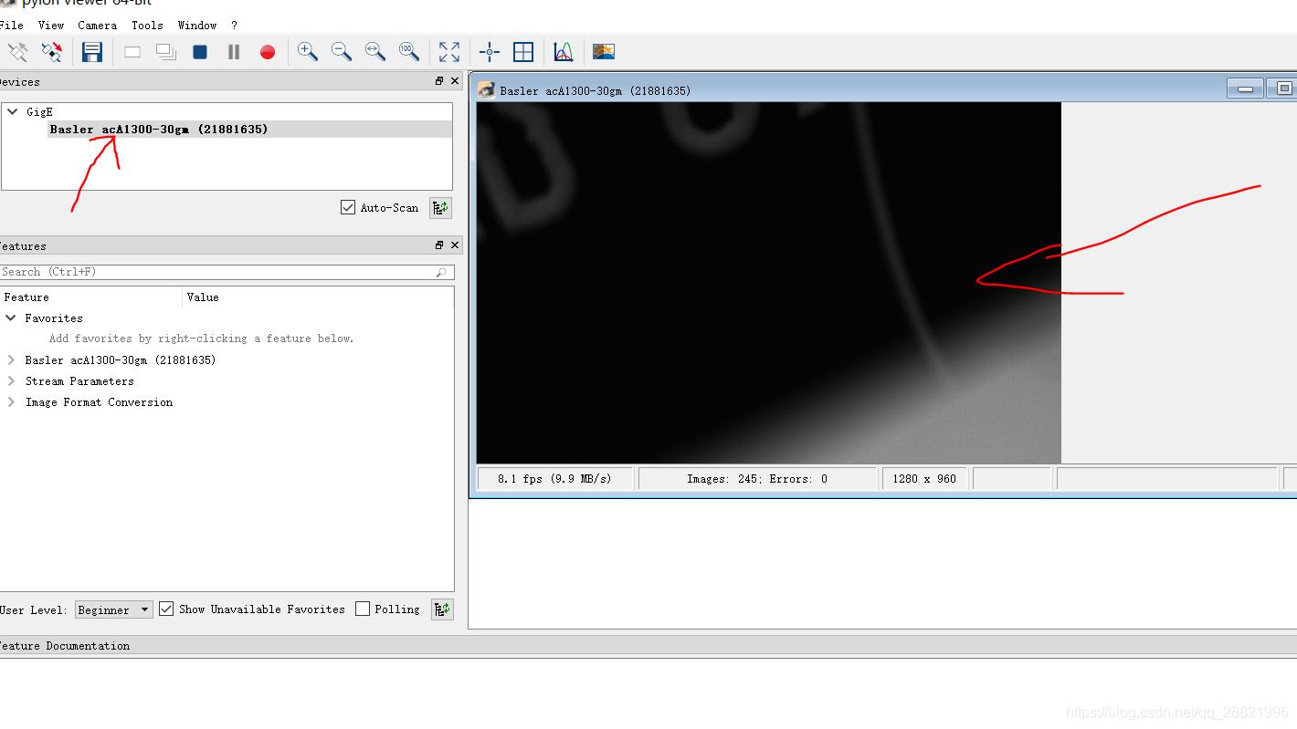 Windows上调试basler Gige接口工业相机并用Python,Opencv开发