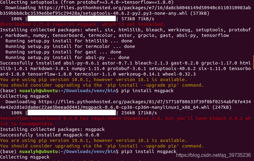 安装tensorflow遇到问题:tensorflow python keras _impl keras backend
