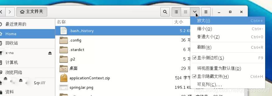 显示隐藏文件夹