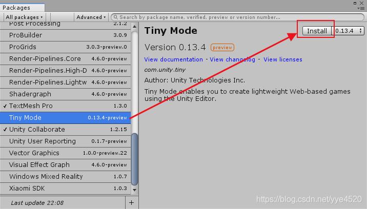 Unity2018新功能之Tiny Mode介绍 - 第2张  | 逗分享开发经验