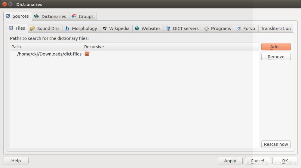 使用教程] Linux上最好用的词典goldendict - 技术博客- CSDN博客