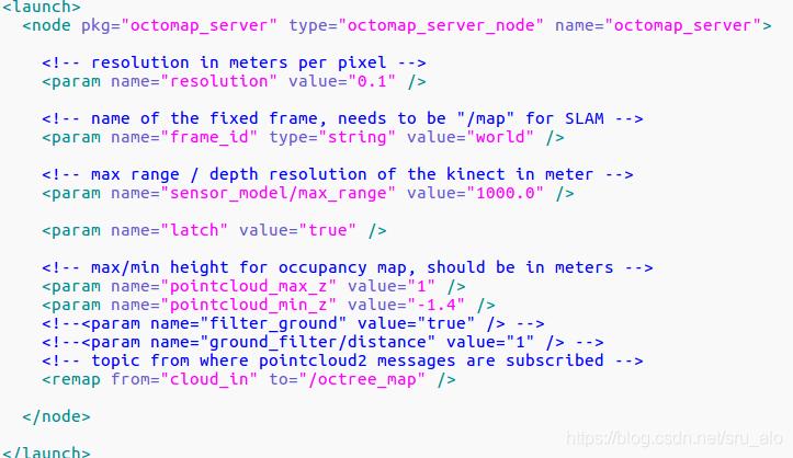 octomap_server使用--生成二维占据栅格地图和三维概率地图