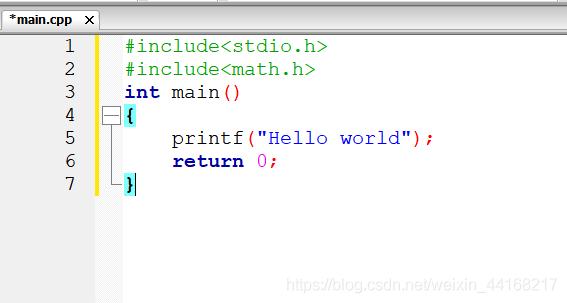 主程序的书写