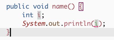 The local variable i may not have been initialized
