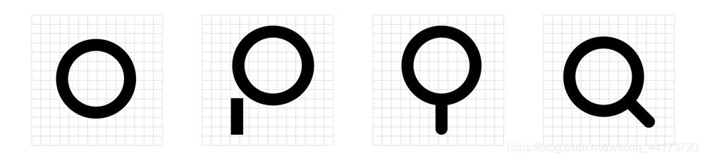 放大镜线性图标