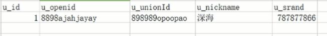 数据库user表结构