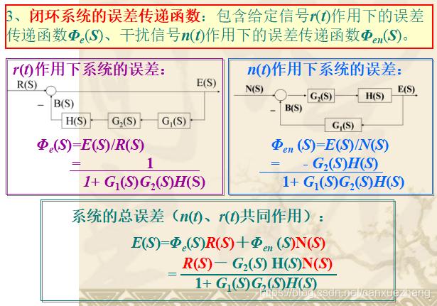 闭环系统的误差传递函数