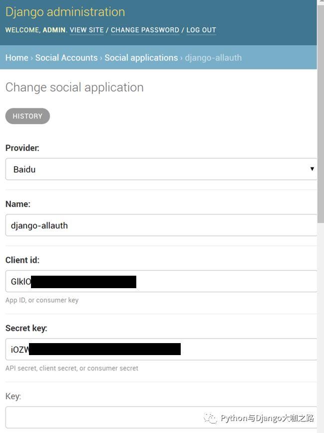 django-allauth:第三方账户授权登录(以百度账号为例) - rongDang的博客