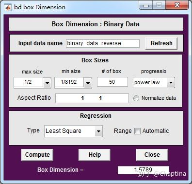 分形分析软件FracLab计算Box-counting分形维数插图7