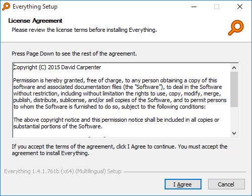 Everything Installer许可协议