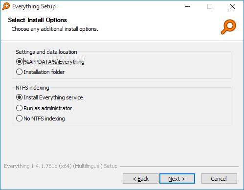 Everything Installer安装选项1