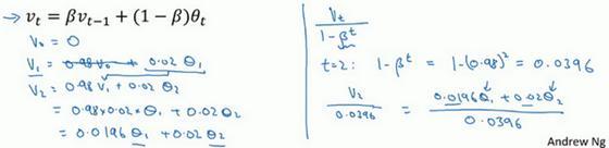 吴恩达深度学习笔记(42)-指数加权平均的偏差修正
