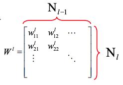 layer l-1中每个神经元和下一层的连接