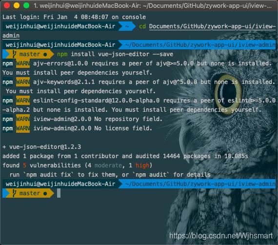 iview 使用vue-json-editor - Wjhsmart的博客- CSDN博客