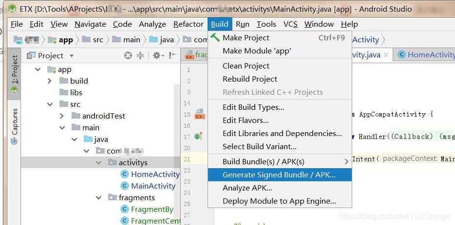 Android Studio3 2 1——Build-Generate Signed Bundle/APK——打包