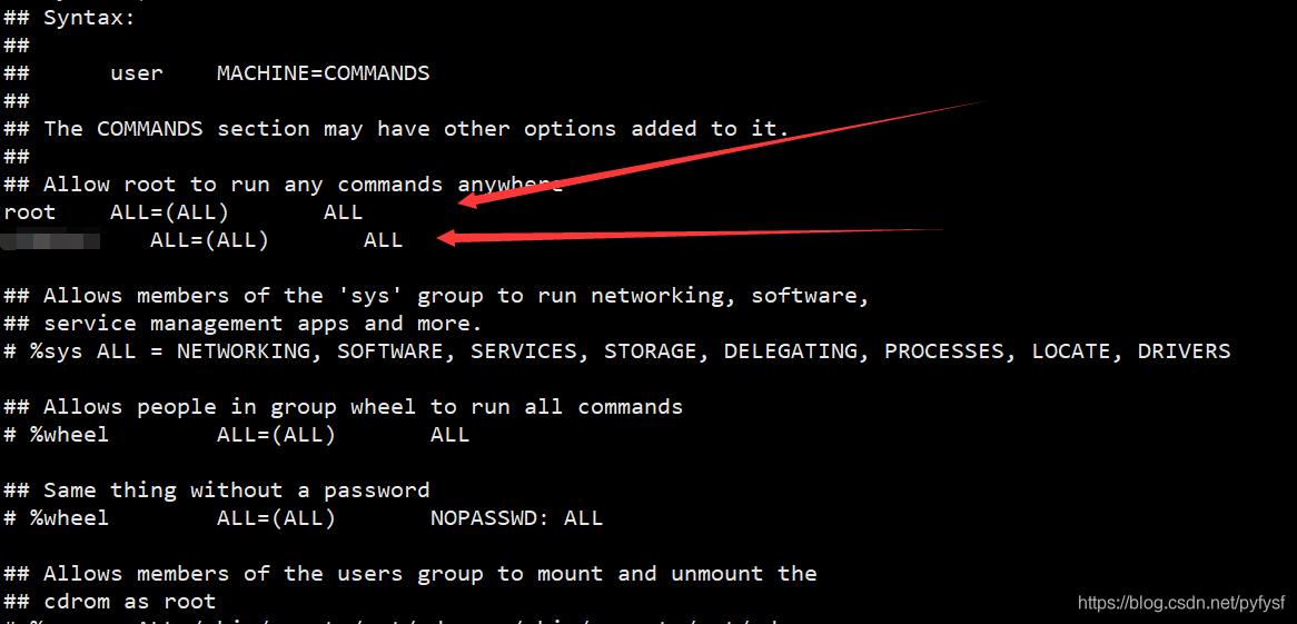 修改普通用户具有root权限