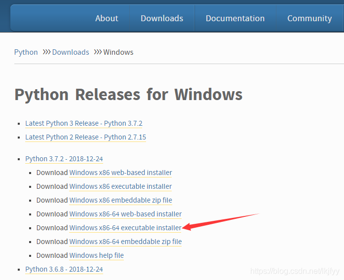python下载页面