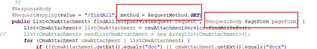 Required request body is missing:public java util List错误