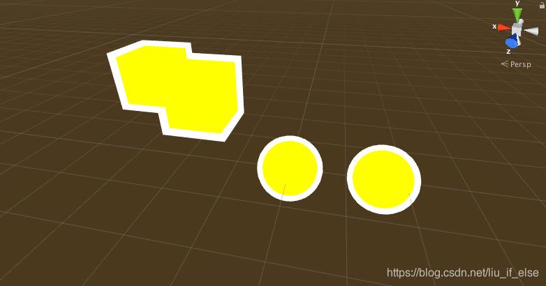 图1:使用StencilPerPassOutline.shader