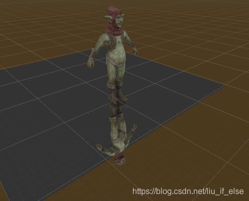 图5:使用TwoPassReflection.shader(无stencil测试)