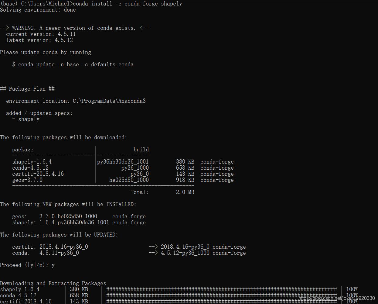pip3 install imgaug 安装报错lgeos = CDLL(
