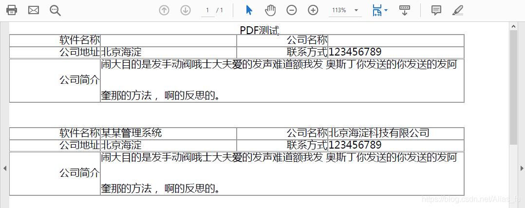 pdf 文件效果