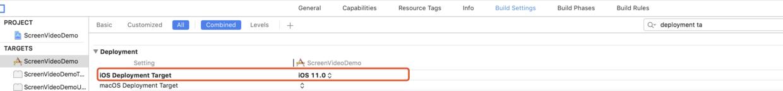 Targets->Build Settings->iOS Deployment Target