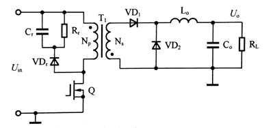 图2-1-3(c) 单端反激DC/DC变换器